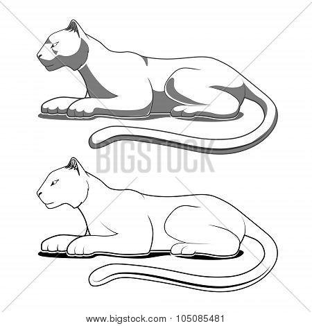 Panther emblem vector illustration