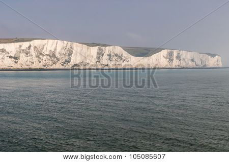 The Coastline With Cliffs Near The Dover