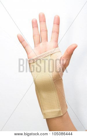 Wrist With Brace Support ,sport Injury