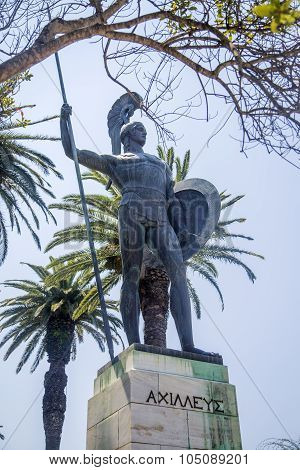Achilleion Statue At Corfu, Greece