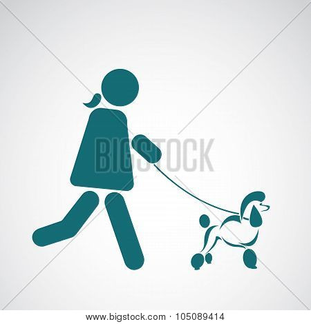 Vector Image Of An Walking Dog On White Background