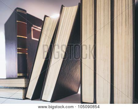 Book On Shelf Vintage Tone Object