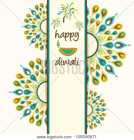happy diwali greeting card design