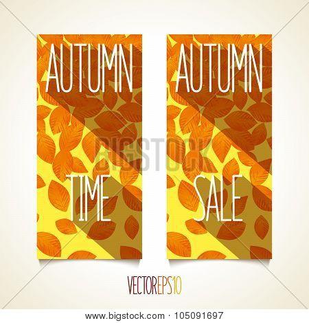Sunny autumn flyer design