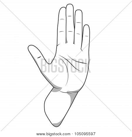Palm hand stop gesture vector illustration