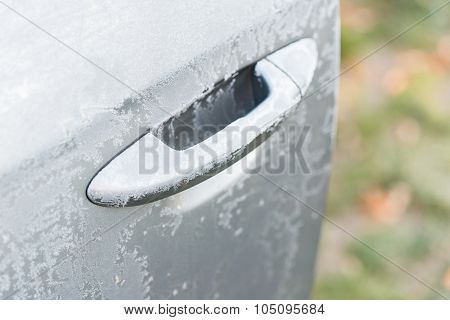 Car Covered With Frost