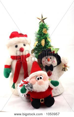 Snowmen, Santa Claus & Christmas Tree