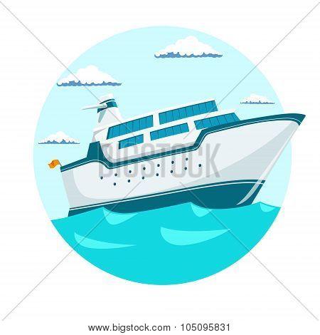 Cruise liner ship vector illustration