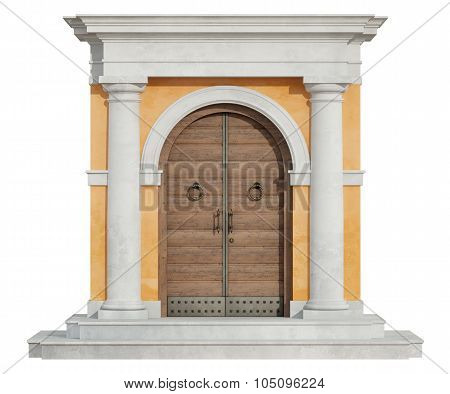 Front View Of A Classic Portal In Tuscany Order