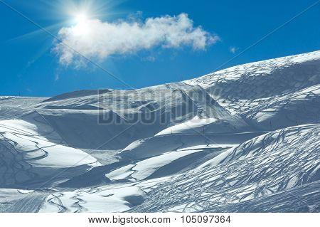 Silvretta Alps Winter View (austria).