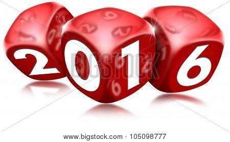 Dice 2016 Happy New Year