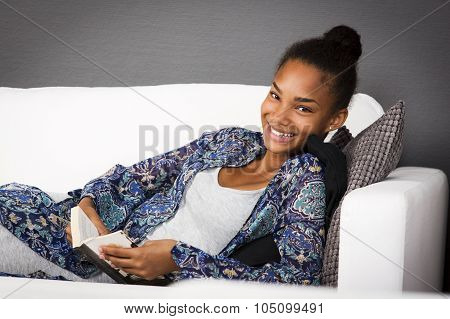 Teenage Girl In Couch