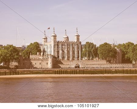 Retro Looking Tower Of London