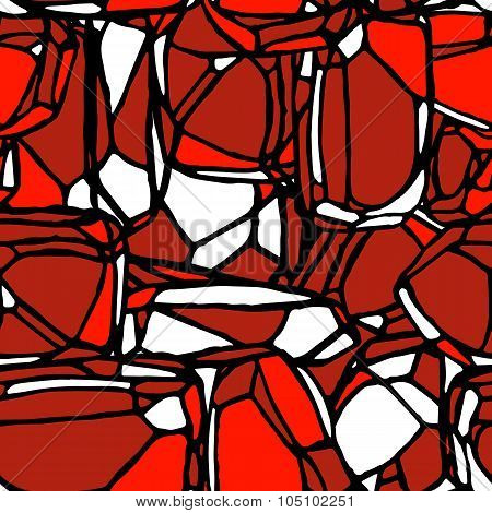 Red Stone Seamless Pattern