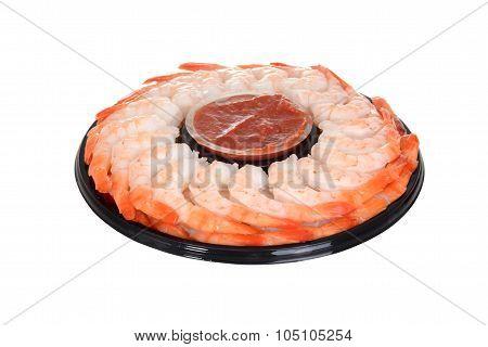 isolated shrimp ring