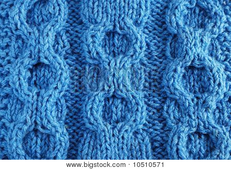 Close-up Of Knitted Cloth With Raised Tracery