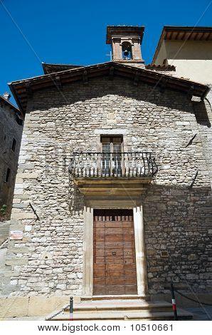 St. Francesco della Pace Church. Gubbio. Umbria.