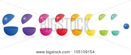Plastic Balls Empty Open Colorful Matryoshka