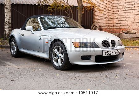 Silver Gray Bmw Z3 Car With Convertible Roof