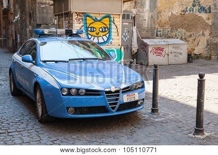 Blue Alfa Romeo 159