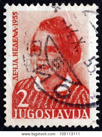 Postage Stamp Yugoslavia 1955 Girl