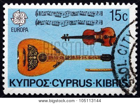 Postage Stamp Cyprus 1985 Cypriot Musical Instruments
