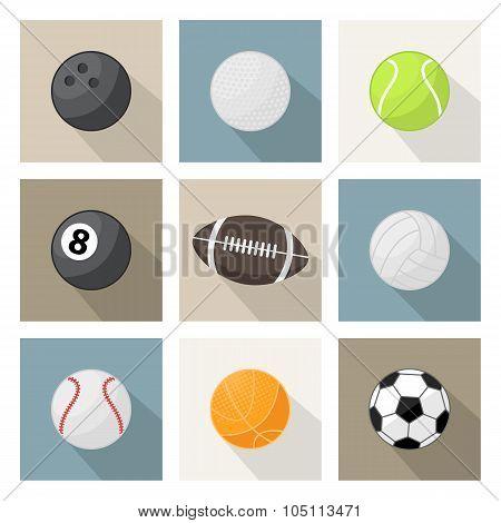 ector sport balls icons