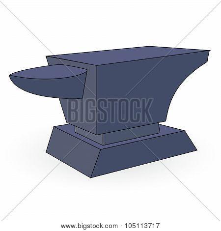 Iron Anvil. Vector Illustration
