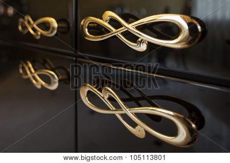 gold furniture handles