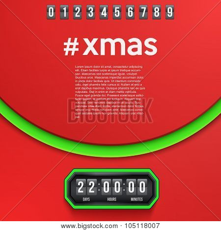 Background Merry Christmas Coming Soon and countdown timer.