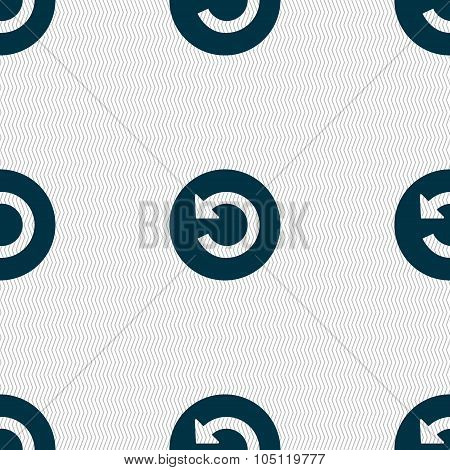 Upgrade, Arrow, Update Icon Sign. Seamless Abstract Background With Geometric Shapes. Vector