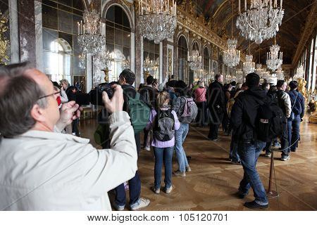 Paris - April 28. Visitors On Queue For Versailles Palace April,