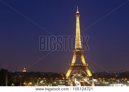 PARIS - MAY 3 : View of the Paris and Tower Eiffel on May 3 2013 in Paris. The Eiffel tower is the m