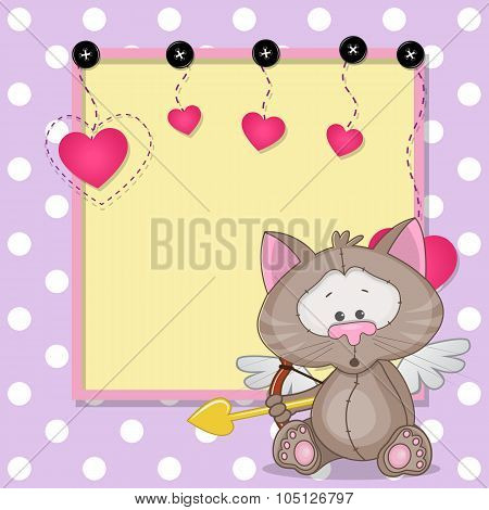 Cupid Cat With Frame