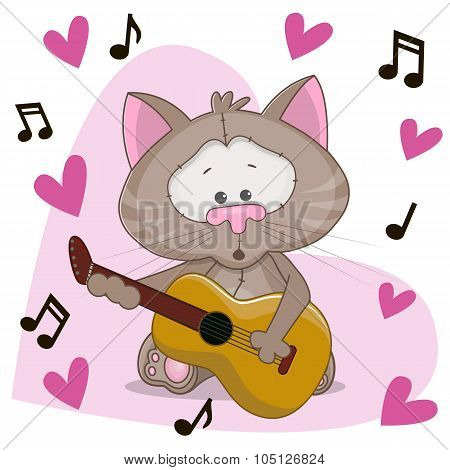 Cat With Guitar