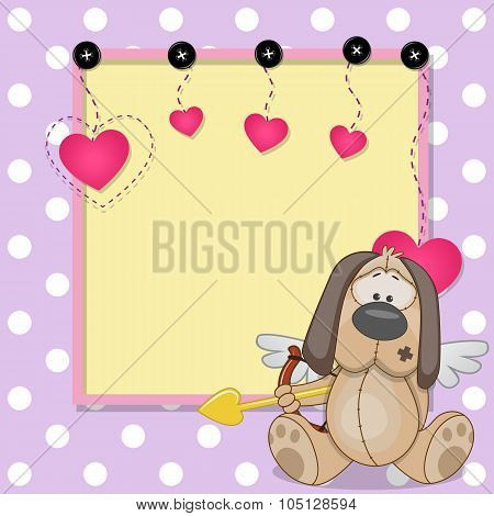 Cupid Dog With Frame