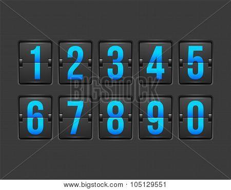 Countdown timer, white color mechanical scoreboard