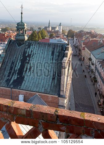 Panorama of the historic old town Sandomierz