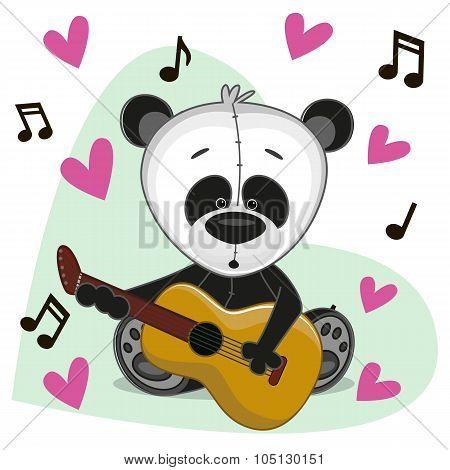 Panda With Guitar