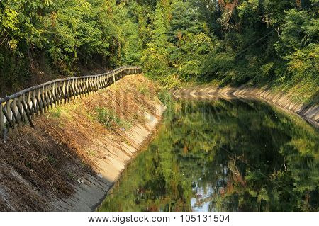 Canal Villoresi (lombardy, Italy)