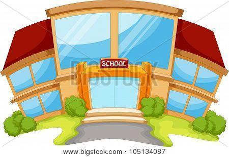 School building cartoon