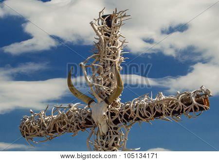 Cow Skull Cross