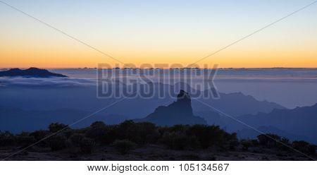 Gran Canaria, Caldera De Tejeda, Sunset