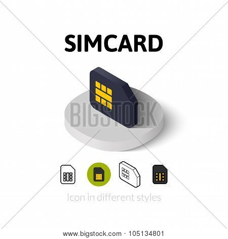 Simcard icon in different style
