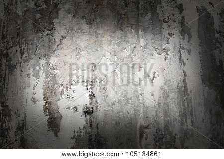 Old weathered wood texture with peeling white paint. Grunge background.