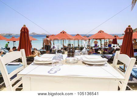 Beach Bar Restaurant, Mykonos