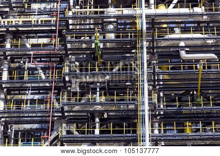Industrial Texture Of Refinery Tower