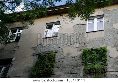 Weathered Building In Kazimierz Near Old Synagogue