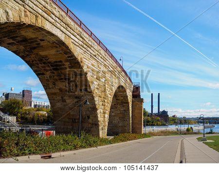 Stone Arch Bridge In Minneapolis 1