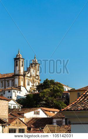 The beautiful city of Ouro Preto in Minas Gerais, Brazil